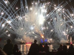 JR Food & Wine fireworks